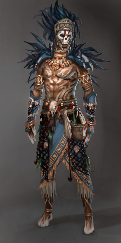 Guild Wars 2 Voodoo Male by YeeWu