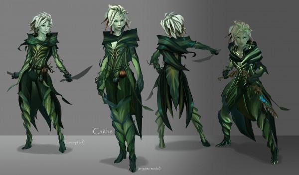sylvari, guild wars 2, gw2, caithe