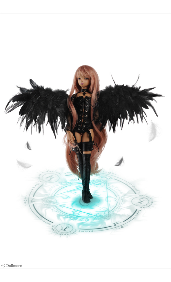 devil wing, cánh quỷ, cánh thiên thần màu đen, thiên thần sa đọa, mua bup be bjd dep, mua búp bê bjd đẹp, ball jointed doll