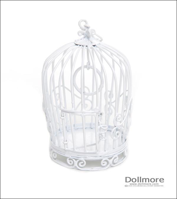 lồng chim màu trắng, birdcage, dollmore