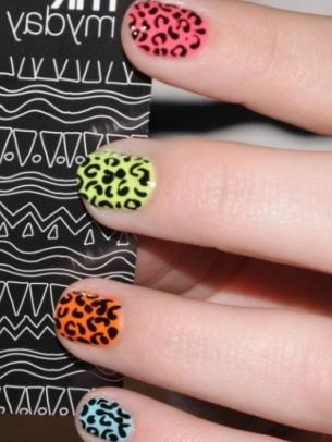 mẫu móng tay đẹp, polka dot nail art, mau mong tay dep, ve mong tay dep, vẽ móng tay đẹp, họa tiết da báo