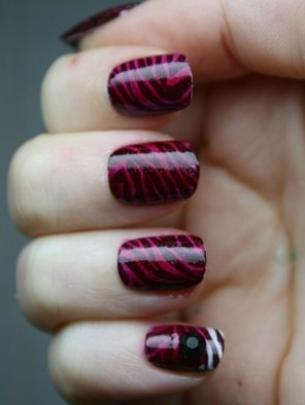 mẫu móng tay đẹp, polka dot nail art, mau mong tay dep, ve mong tay dep, vẽ móng tay đẹp, vẽ móng chấm bí, móng tay bong bóng, họa tiết da báo