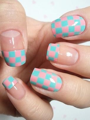 mẫu móng tay đẹp, polka dot nail art, mau mong tay dep, ve mong tay dep, vẽ móng tay đẹp, vẽ móng chấm bí, móng tay bong bóng, họa tiết ca-rô