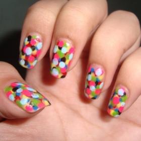 mẫu móng tay đẹp, polka dot nail art, mau mong tay dep, ve mong tay dep, vẽ móng tay đẹp, vẽ móng chấm bí