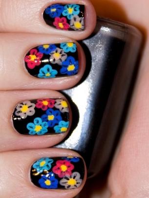 mẫu móng tay đẹp, polka dot nail art, mau mong tay dep, ve mong tay dep, vẽ móng tay đẹp, vẽ móng hoa