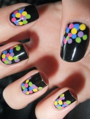 mẫu móng tay đẹp, polka dot nail art, mau mong tay dep, ve mong tay dep, vẽ móng tay đẹp, vẽ móng chấm bi