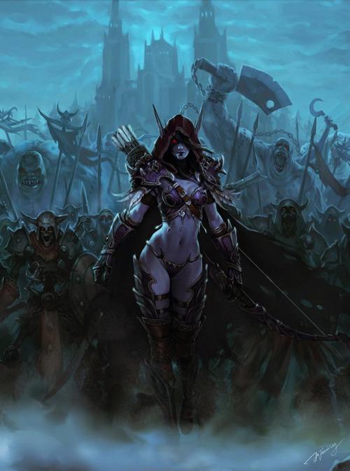 sylvanas windrunner, dark lady, banshee queen, forsaken, undead, ranger, hunter scourge, wow, world of warcraft