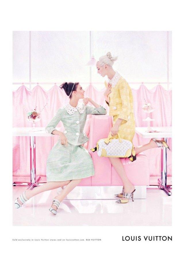 Sweet Spring Louis Vuitton, túi xách, tui xách, bóp ví, bop vi, phụ kiện, phu kien, Daria Strokous,  Steven Meisel, Kati Nescher