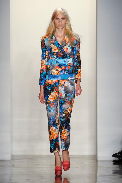Peter Som Spring 2012, Flower row, Fashion, Thời trang, Xu hướng thời trang xuân 2012, thoi trang, xu huong thoi trang mua xuan 2012, thời trang đẹp, thoi trang dep