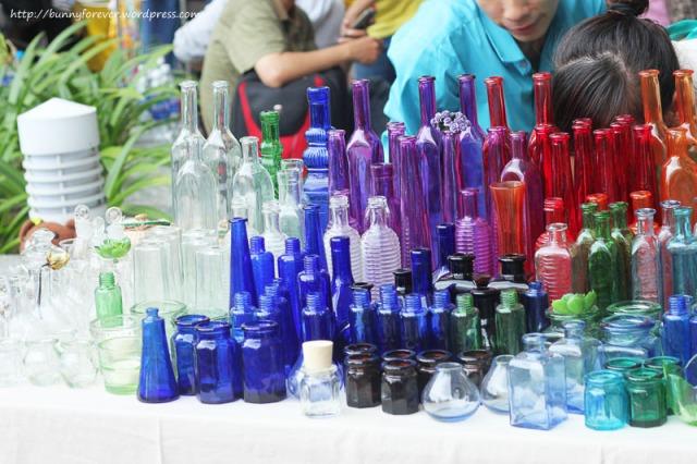 Saigon Flea Market, chai thủy tinh, chai thủy tinh, glass bottle