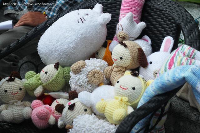 Saigon Flea Market, thú đan móc, thu dan moc, thú nhồi bông, thu nhoi bong