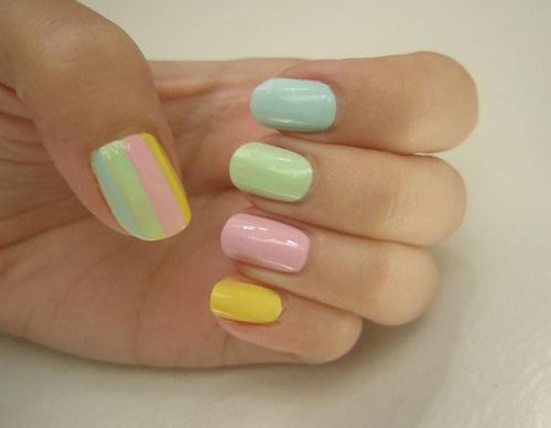 pastel nail color