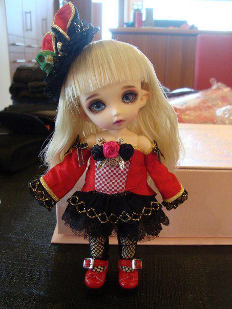 FL PukiFee Mio Red Bunny Fullset, búp bê bjd đẹp, bup be bjd dep, ball jointed doll, mua bup be bjd o vn, mua búp bê bjd ở vn