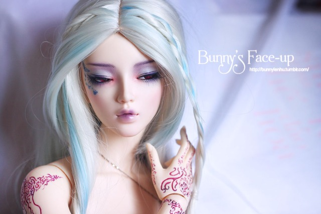 ball jointed doll, bjd doll, face-up, face up, feeple 65 chloe dreaming faceplate