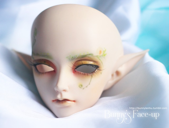 ball jointed doll, bjd doll, face-up, face up