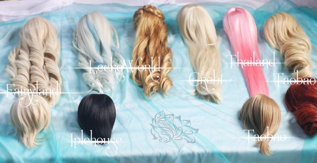 wig, tóc giả, wig for bjd, tóc giả cho bup be, toc gia