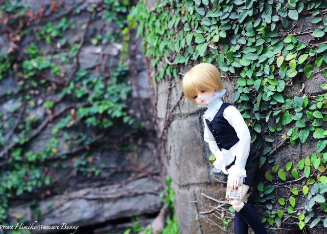 luts kid hoodoo, ciel phamtomhive, ball jointed doll, bjd doll, face-up, face up