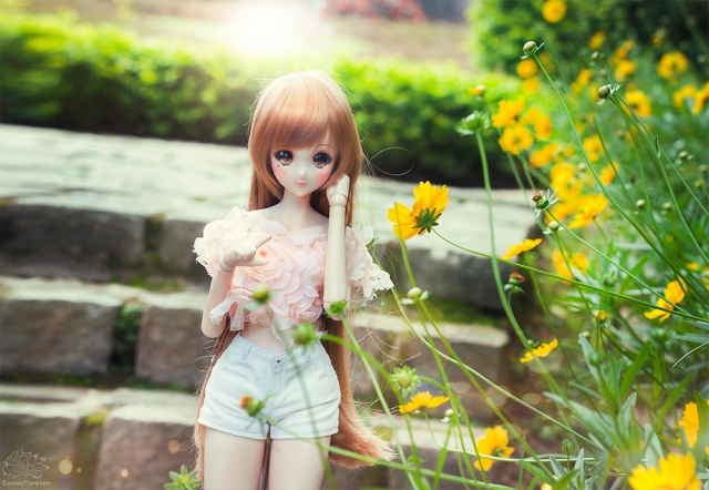 mirai suenaga, smart doll, smartdoll, doll, doll photography, cute, garden