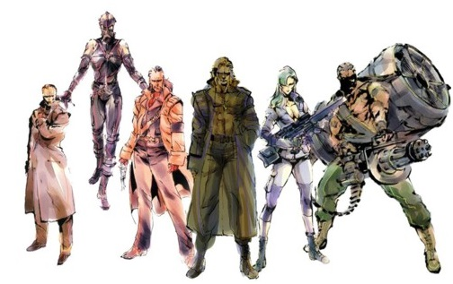 : Laughing Octopus, Psycho Mantis, Revolver Ocelot, Liquid Snake, Sniper Wolf, Vulcan Raven, metal gear solid, mgs
